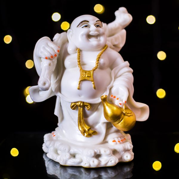 Laughing Buddha with Ru Yi Stick
