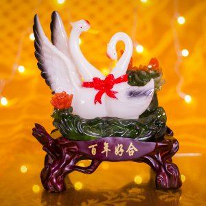 Love Swan Pair Decorative
