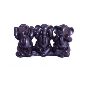 3 Wise Elephants Showpiece