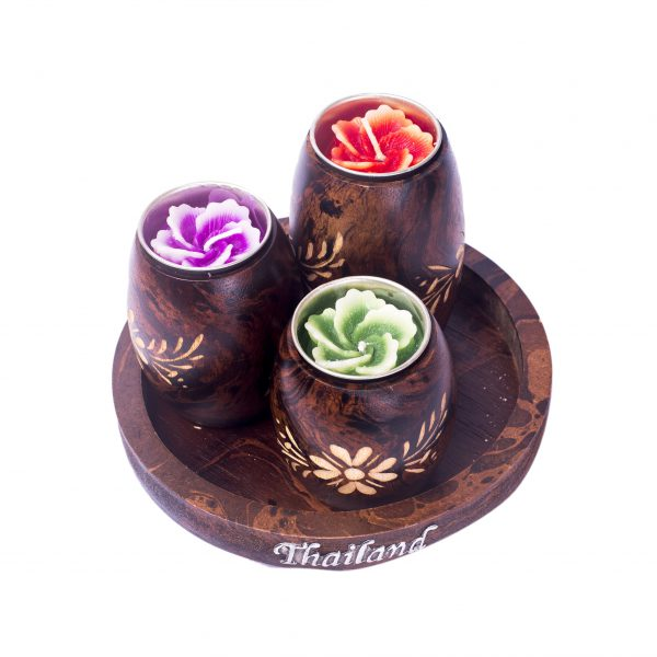 Thai Wooden candle holders