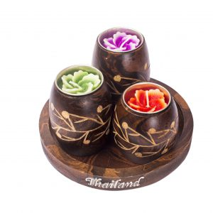 Thai Wooden candle holder