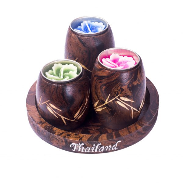 barrel shaped candle holders