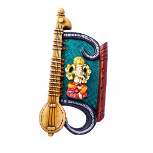 Ganesha with Veena Wall Hanging