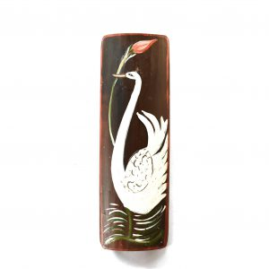 Swan Wall painting on bamboo