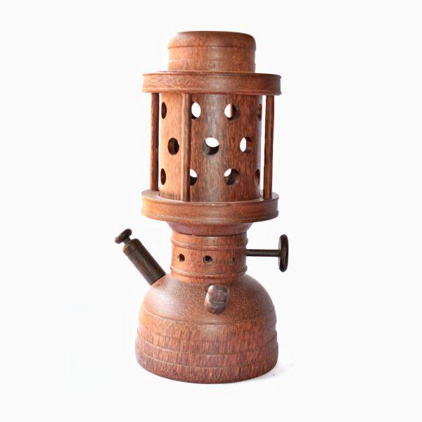 Wooden vintage lamp / Petromax lantern / Paraffin lamp
