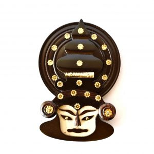 Wooden Kathakali Face Showpiece