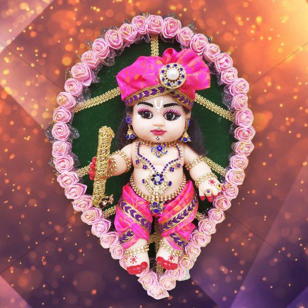 Baby Krishna on leaf