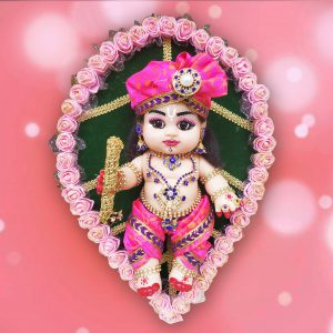 Baby Krishna on leaf