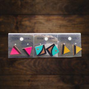 Geometric shape wooden studs