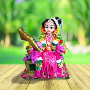 Andal devi doll with mirror