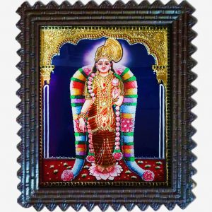 Gold foil andal tanjore painting