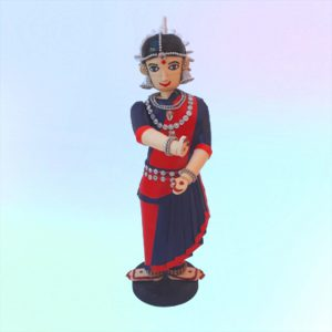Paper quilling odissi dancer
