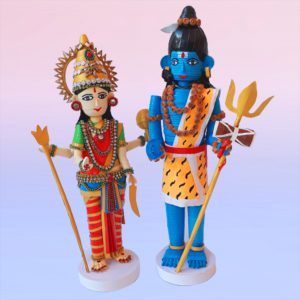 Paper quilling Shiva and Parvathy set